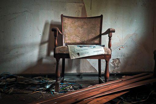 Lost Places, Building, Old, Chair, Moss, Mold, Lapsed