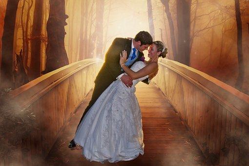 Bride, Groom, Wedding, Love, Couple, Man, Woman