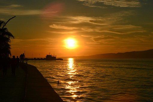 Marine, Landscape, Nature, Peace, Beach, Horizon, Boat