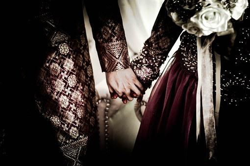 Wedding, Holding Hands, People, Couple, Love, Marriage