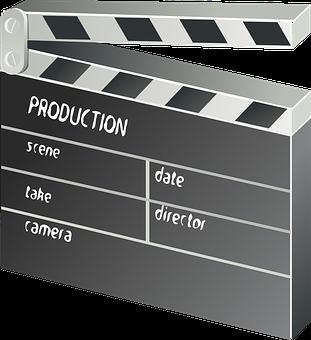 Clapper-board, Film, Movie, Motion Picture