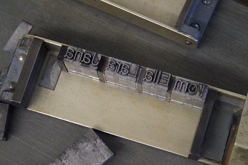 Printing, Composing Room, Lead Set, Print, Pressure