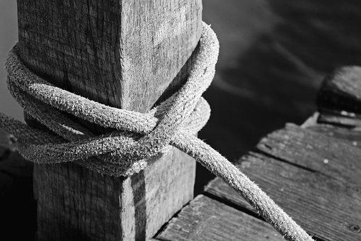 Boat Mooring, Pier, Web, Rope, Water, Lake, Boardwalk