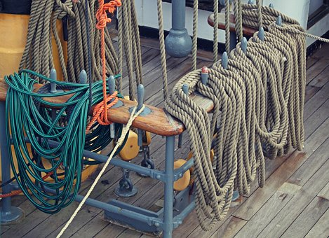 Sailing Vessel, Thaw, Ropes, Canvas, Ship, Knitting