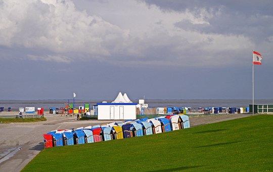 Saisonende, Norseeküste, Wadden Sea, Harlesiel