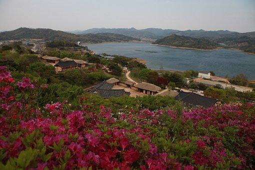 Spring, Home, Joseon Dynasty, Sea, Ocean, Mountain