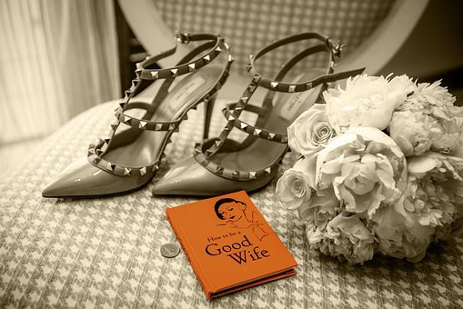 Retro, High Heels, Good Wife, Sepia, Color Splash