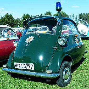 Bmw, Isetta, Police, Snogging Ball, Oldtimer, Rarity