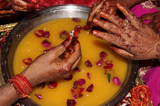Indian, Marriage, Ceremony, Bride, Traditional