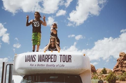 Dreadlocks, Band, Tour, Warped Tour, Vans, Bus, Desert