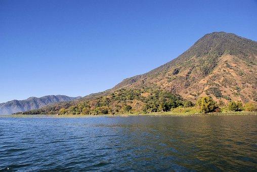 Guatemala, Lake, Atitlan, Volcano, Cone, Lake Atitlán