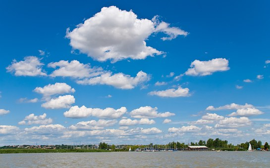 Lake, Clouds, Water, Neusiedler See, Burgenland