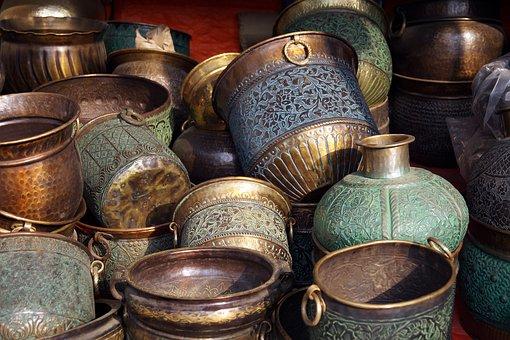 Utensils, Copper Utensils, Cooking, Metal, Antique