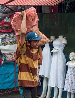 Maracaibo, Man, Working, Bag, Produce, Shop, Business