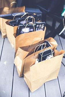 Shopping, Bags, Paper, Brown, Blank, Gift, Market, Pack