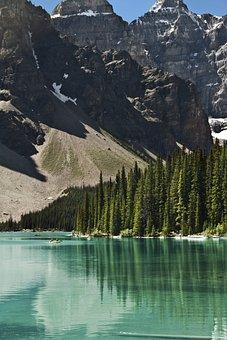 Banff National Park, Lake, Rocky Mountains, Moraine