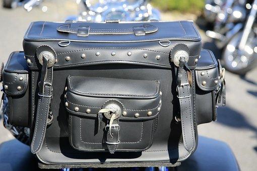 Leather Bag, Motorcycle, Biker, Leisure, Two Wheels