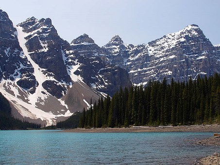 Tourism, Travel, Canadian Rockies, Banff, Moraine Lake