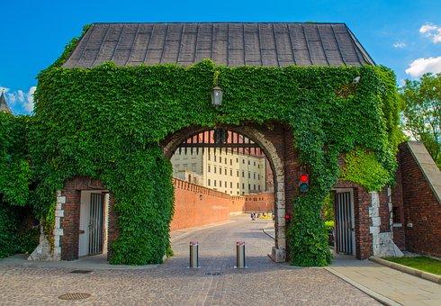 Wawel, Castle, Krakow, Poland, Europe, Gates, Tourism