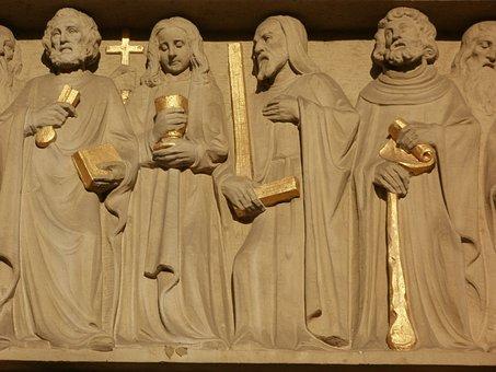 Relief, Church, St Sebastian, Ketsch, Bas-relief