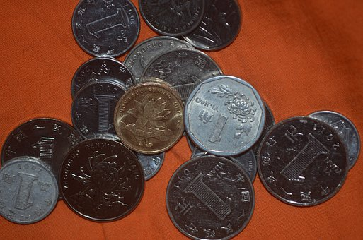 Coin, Coins, Chinese, Currency, Value, Yuan, Mao, Money