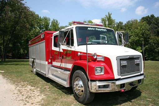 Fire, Truck, Red, Vehicle, Emergency, Rescue, Fireman