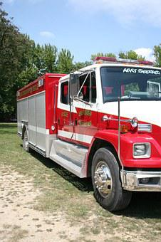Fire, Truck, Red, Vehicle, Emergency, Rescue, Fireman