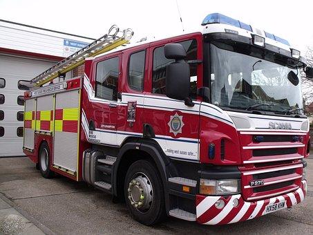 Fire, Truck, Engine, Vehicle, Emergency, Transport