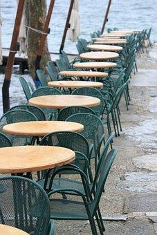 Restaurant, Dining Tables, Chairs, Garda, Port, Italy