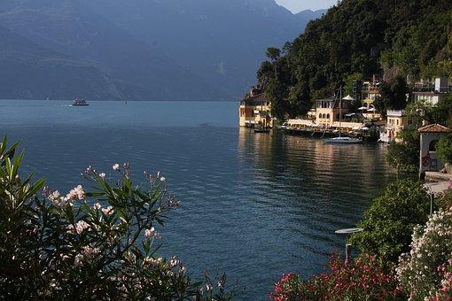 Limone Sul Garda, Garda, Lake, Bank, Idyllic, Italy