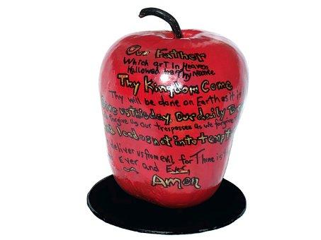 Apple, Fruit, Food, Healthy, Graffiti, Design