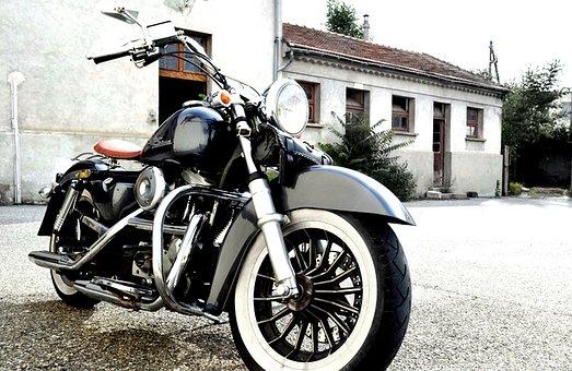 Motorcycle, Chrome, Bikers, Harley
