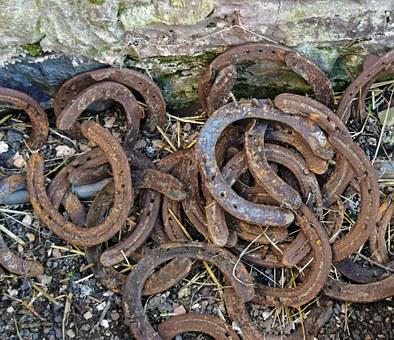 Horse Shoes, Rusty, Horse, Horseshoe, Luck, Old, Metal