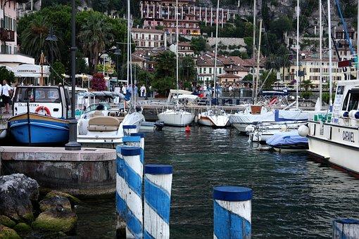 Limone Sul Garde, Port, Lake Garda, Holiday, Water