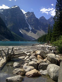 Moraine Lake, Lake, Canada, Alberta, Scenic, Mountain