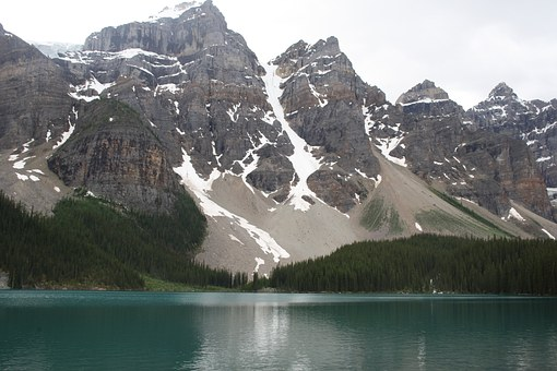 Lake, Canada, Moraine, Rockies