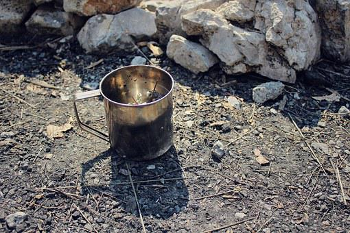 Cup, Can, Camping, Herbal, Outdoors, Pot, Drink