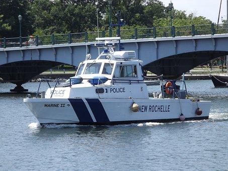 Boat, Ship, Water, Police, Police Boat, Patrol Boat
