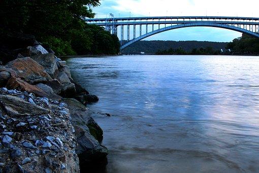 Henry Hudson Bridge, Hudson River, River, Manhattan