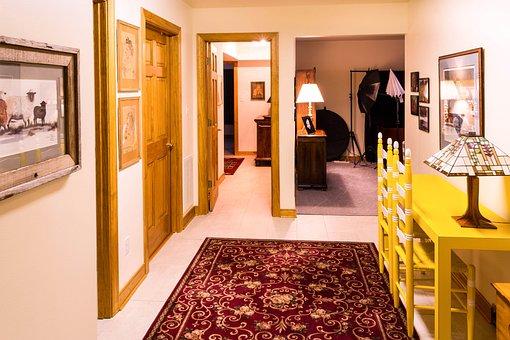 Corridor, Passageway, Hall, Pass Through, Rooms, Doors