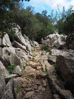 Trail, Rock, Limestone, Limestone Rock Formations