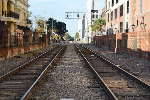 Rails, Train Track, Downwtown, Church Street, Orlando