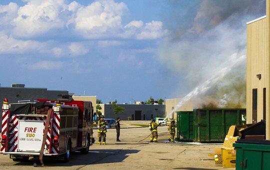 Firetruck, Rescue, Water, Fireman, Fire, Truck