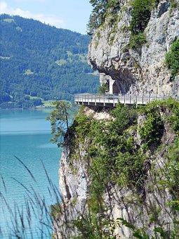 Lake Thun, Northern Road, Rock, Gallery, Tunnel