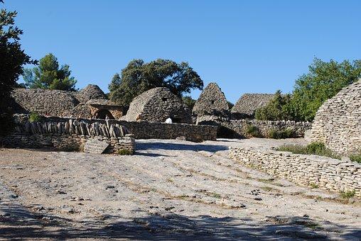 Stone Houses, Village, Luberon, France