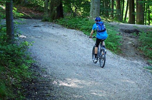 Mountain Bike, Cycling, Bike, Cyclists, Wheel, Away