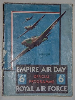 Book, Programme, Cover, Planes, Aeroplanes, Historic