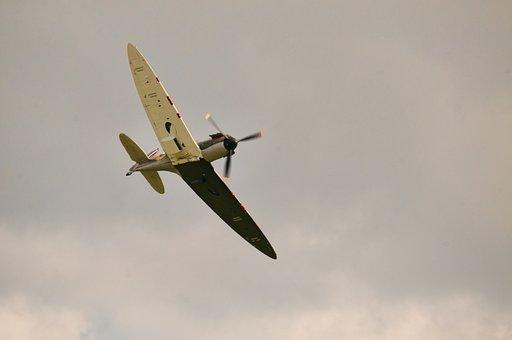 Spitfire, Airshow, Ww2, Battle Of Britain