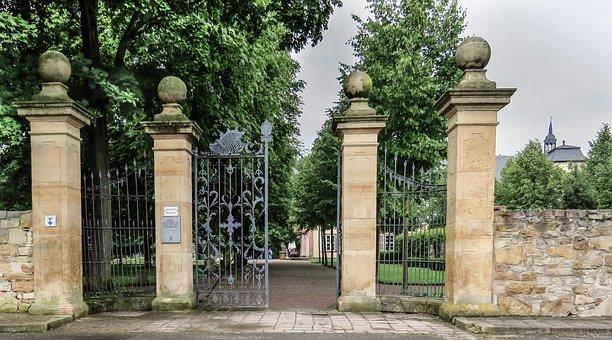 Goal, Garden Gate, Wrought Iron, Antique, Old