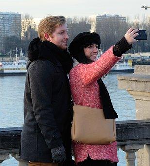 Selfie, Schelde, Antwerp, Happy, People, Relax